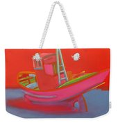 Abandoned Red Fishing Trawler Weekender Tote Bag