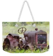 Abandoned Tractor On The Farm Weekender Tote Bag