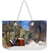 Abandoned Winter Tractor Weekender Tote Bag