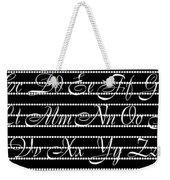 Abc 123 Black Weekender Tote Bag