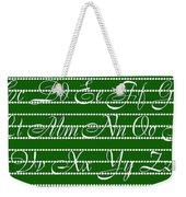 Abc 123 Green Weekender Tote Bag