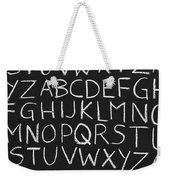 Abc On A Chalkboard Weekender Tote Bag