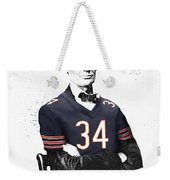 Abe Lincoln In A Walter Payton Chicago Bears Jersey Weekender Tote Bag