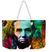 Abe The Broham Lincoln 20140217 Weekender Tote Bag