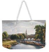 Abingdon Bridge And Church, Engraved Weekender Tote Bag