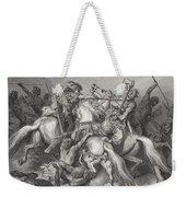 Abishai Saves The Life Of David Weekender Tote Bag by Gustave Dore
