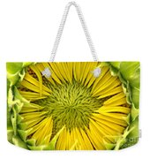 About To Be A Sunflower Weekender Tote Bag