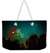 Above The Trees Below The Stars Celebration  Weekender Tote Bag