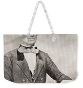 Abraham Lincoln, 1809 – 1865, Seen Here In 1854.  16th President Of The United States Of America Weekender Tote Bag