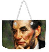 Abraham Lincoln - Abstract Realism Weekender Tote Bag