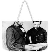 Abraham Lincoln And Tad Weekender Tote Bag