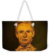 Abraham Lincoln  Weekender Tote Bag by David Dehner