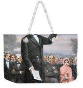 Abraham Lincoln Delivering The Gettysburg Address Weekender Tote Bag