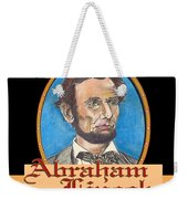 Abraham Lincoln Graphic Weekender Tote Bag by John Keaton
