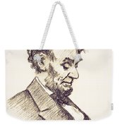 Abraham Lincoln Head Bowed  Drawing 1910 Weekender Tote Bag