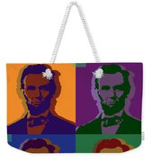 Abraham Lincoln Weekender Tote Bag