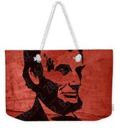 Abraham Lincoln License Plate Art Weekender Tote Bag