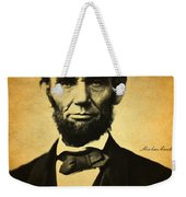 Abraham Lincoln Portrait And Signature Weekender Tote Bag