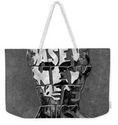 Abraham Lincoln Quote Original Typography Black And Whte Weekender Tote Bag