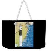 Absecon Lighthouse Nj Nautical Chart Map Art Cathy Peek Weekender Tote Bag