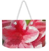 Abstract 106 Pink Painterly Flowers Weekender Tote Bag