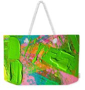 Abstract 6814 Diptych Cropped Xvi  Weekender Tote Bag