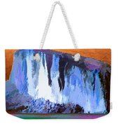Abstract Arizona Mountains At Icy Dawn Weekender Tote Bag