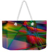 Lineage - Square Abstract Print Weekender Tote Bag