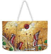 Abstract Art Cityscape Original Painting The Garden City By Madart Weekender Tote Bag