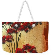 Abstract Art Colorful Original Landscape Painting Birds Aloft By Madart Weekender Tote Bag