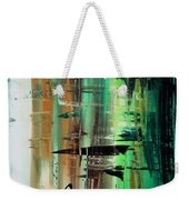 Abstract Art Colorful Original Painting Green Valley By Madart Weekender Tote Bag