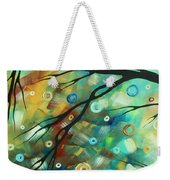 Abstract Art Landscape Circles Painting A Secret Place 2 By Madart Weekender Tote Bag