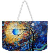 Abstract Art Landscape Metallic Gold Textured Painting Eye Of The Universe By Madart Weekender Tote Bag
