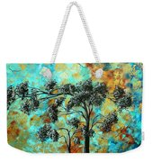 Abstract Art Landscape Metallic Gold Textured Painting Spring Blooms II By Madart Weekender Tote Bag