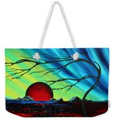 Abstract Art Landscape Seascape Bold Colorful Artwork Serenity By Madart Weekender Tote Bag