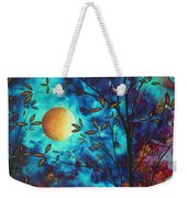 Abstract Art Landscape Tree Blossoms Sea Moon Painting Visionary Delight By Madart Weekender Tote Bag
