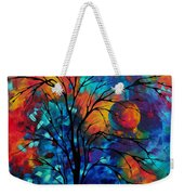 Abstract Art Landscape Tree Bold Colorful Painting A Secret Place By Madart Weekender Tote Bag