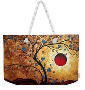 Abstract Art Landscape Tree Metallic Gold Texture Painting Free As The Wind By Madart Weekender Tote Bag by Megan Duncanson