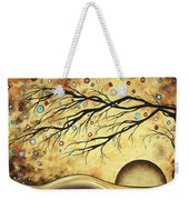 Abstract Art Metallic Gold Original Landscape Painting Colorful Diamond Jubilee By Madart Weekender Tote Bag