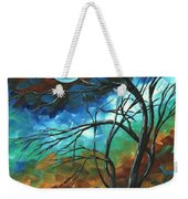 Abstract Art Original Colorful Painting Mystery Of The Moon By Madart Weekender Tote Bag