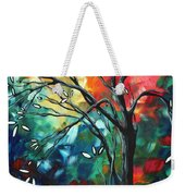 Abstract Art Original Colorful Painting Spring Blossoms By Madart Weekender Tote Bag