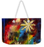 Abstract Art Original Daisy Flower Painting Visual Feast By Madart Weekender Tote Bag