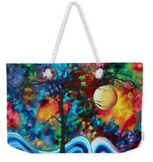 Abstract Art Original Enormous Bold Painting Essence Of The Earth I By Madart Weekender Tote Bag by Megan Duncanson