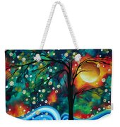 Abstract Art Original Landscape Painting Bold Circle Of Life Design Dance The Night Away By Madart Weekender Tote Bag