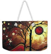 Abstract Art Original Landscape Painting Catch The Rising Sun By Madart Weekender Tote Bag