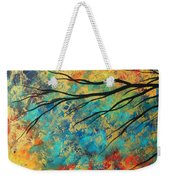 Abstract Art Original Landscape Painting Go Forth I By Madart Studios Weekender Tote Bag