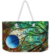 Abstract Art Original Landscape Painting Mint Julep By Madart Weekender Tote Bag