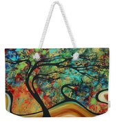 Abstract Art Original Landscape Wild Abandon By Madart Weekender Tote Bag