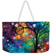 Abstract Art Original Painting Winter Cold By Madart Weekender Tote Bag