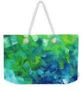 Abstract Art Original Textured Soothing Painting Sea Of Whimsy I By Madart Weekender Tote Bag by Megan Duncanson